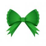 豪華な緑色のリボンイラスト素材
