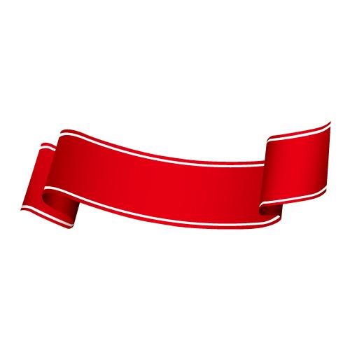 デザインのアクセントに最適な赤い帯素材