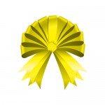 半円の形をした黄色いリボンイラスト