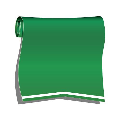 グリーンのロールリボンイラスト