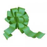 緑色のボンボンリボンイラスト
