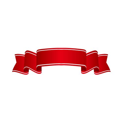 赤色のヒラヒラとしたリボン