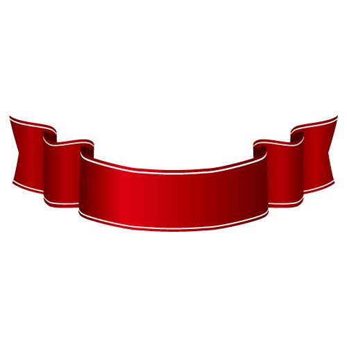 横長・帯太のワインレッドカラーリボン