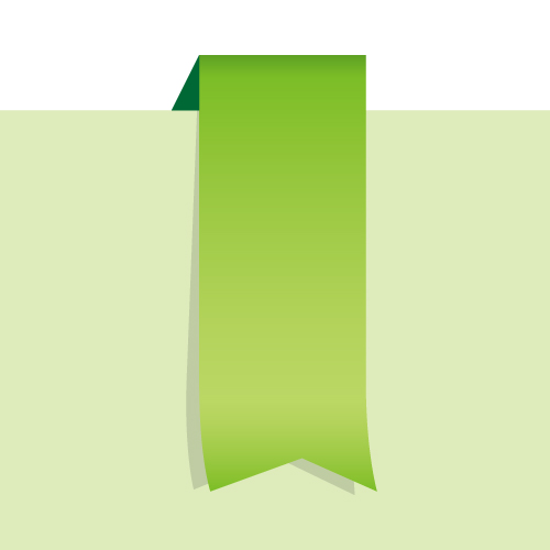 緑色のタグイラスト