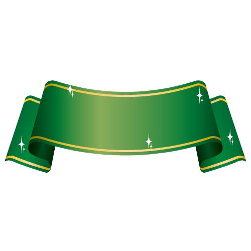 湾曲した緑色の帯イラスト素材