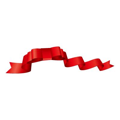 赤いリボン・帯のイラスト