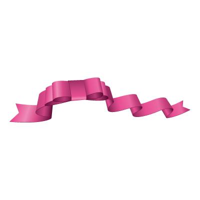 ピンク色のリボン・帯のイラスト