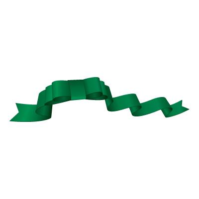 緑色のリボン・帯のイラスト